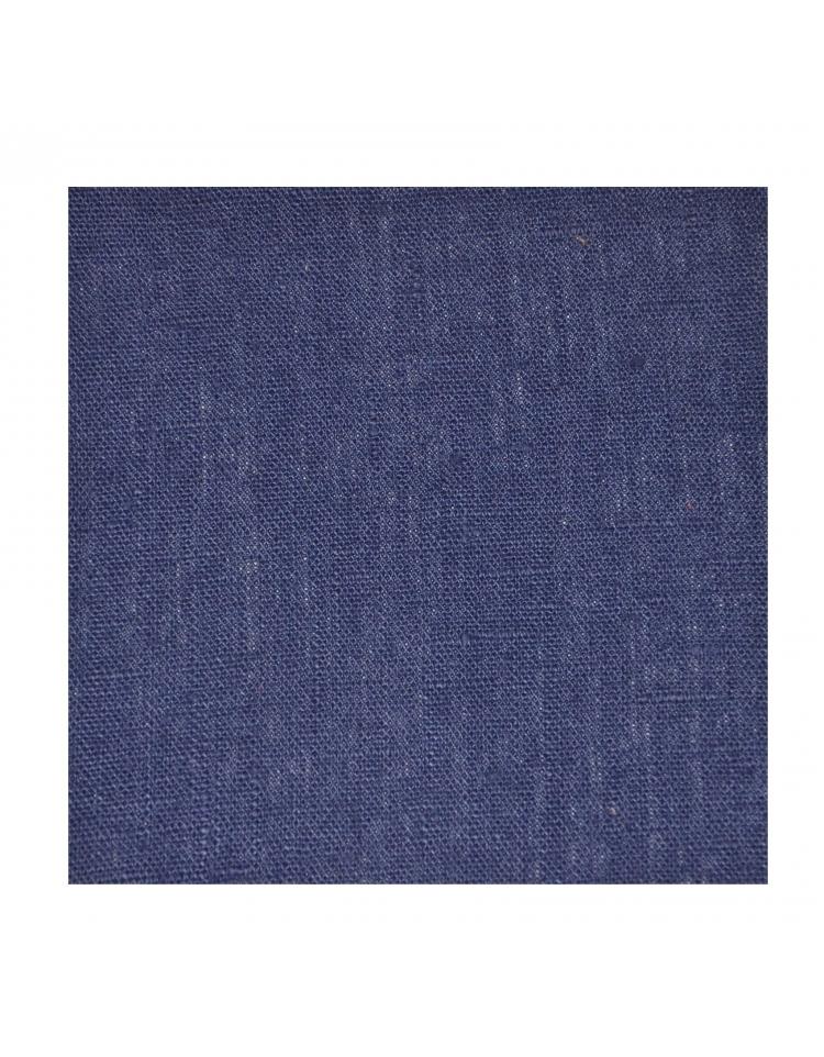 rideau pr t poser en lin bleu marine thevenon. Black Bedroom Furniture Sets. Home Design Ideas