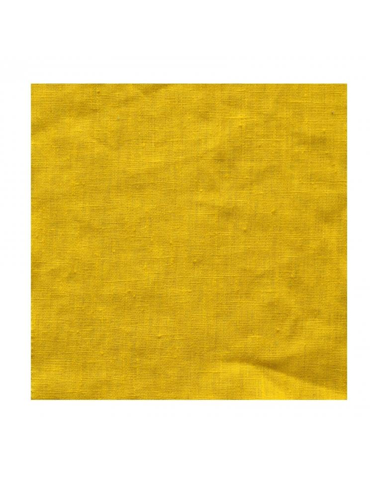 rideau sur mesure en lin jaune moutarde thevenon. Black Bedroom Furniture Sets. Home Design Ideas